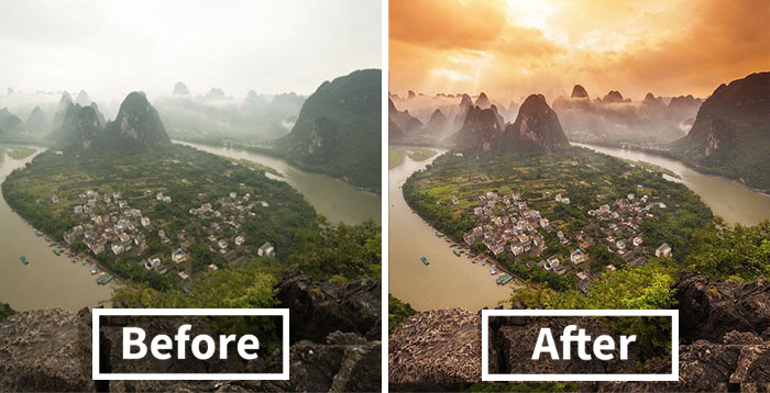 Photographer Reveals How Much Online Images Are Photoshopped (20 pics)
