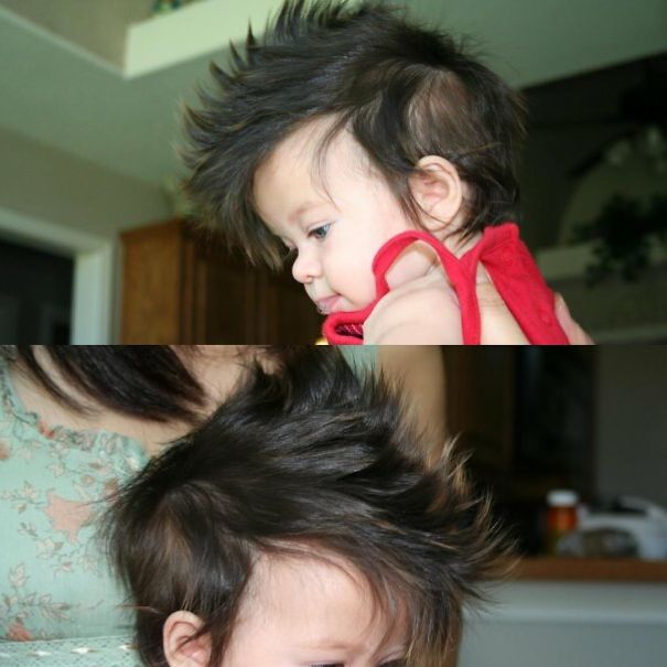My Niece Violet. That Natural Mohawk Though.