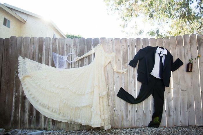 Wedding Day Backyard Fence