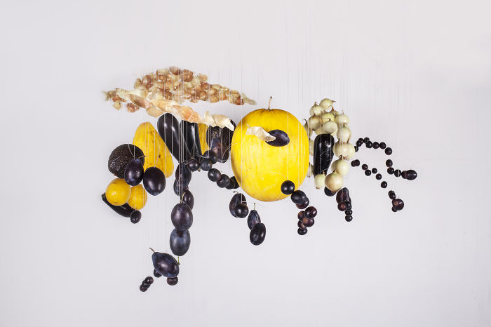 We Made A Bee Out Of Fruits And Vegetables To Raise Awareness About Bee Extinction