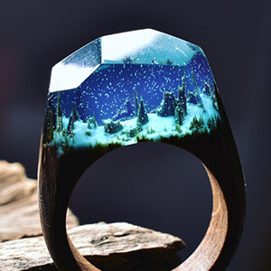 Miniature Worlds Inside Wooden Rings By Secret Wood