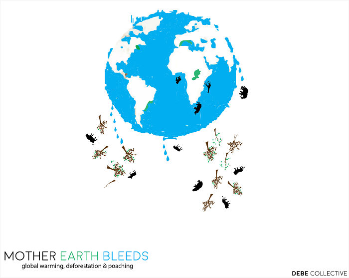 """21-4-2016 At 6:37 Pm Is When I Realised I Should Share """"mother Earth Bleeds"""" With The World."""
