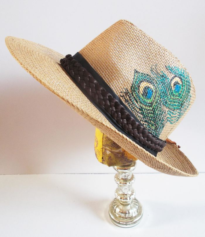 Make A Scene! Handpainted Straw Hats & Bags By Mademeathens