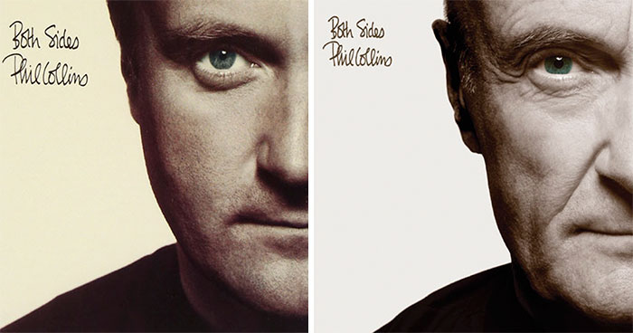 Phil Collins Recreates All His Original Album Covers With His Older Self For The 2016 Reissues