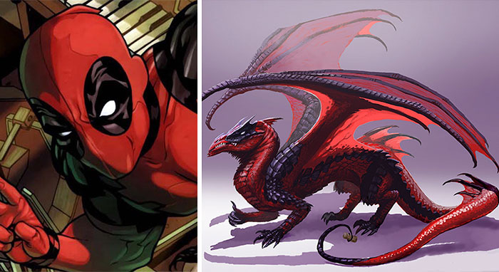 I Re-Imagined Popular Comic Characters As Dragons
