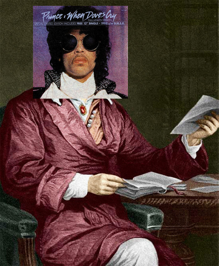 I Combined Prince's Album Covers With Classical Paintings As A Tribute