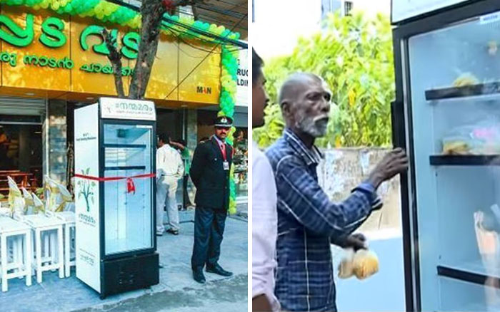 Restaurant Puts Fridge In Street So Hungry People Can Take Leftovers