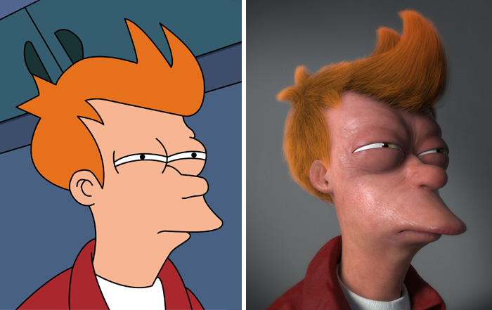 22+ Realistic Cartoon Character Versions You Wouldn't Want To Meet In Real Life