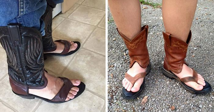 Cowboy Boot Sandals Is The Newest Trend That Keeps Your