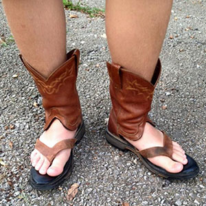 Cowboy Boot Sandals Is The Newest Trend That Keeps Your Toes Cool