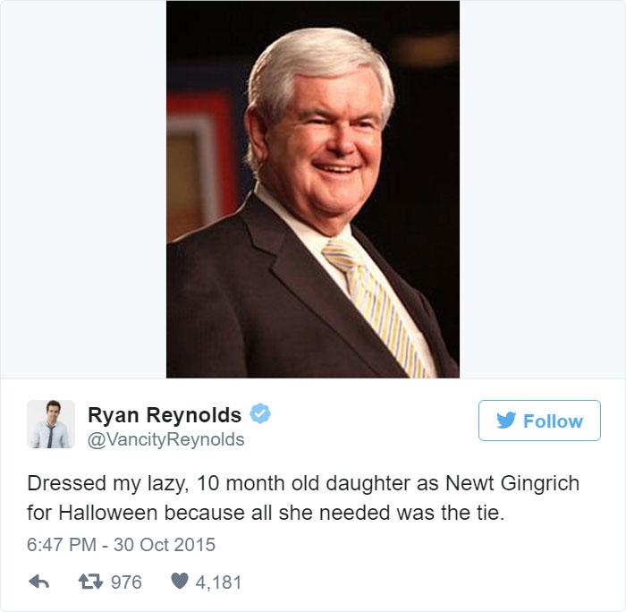 Ryan Reynolds Parenting Tweets