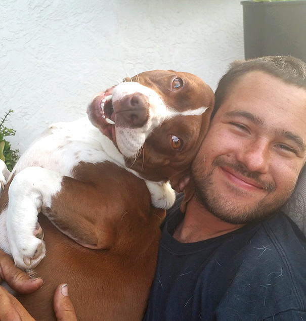 Told My Husband And Dog To Smile For A Picture