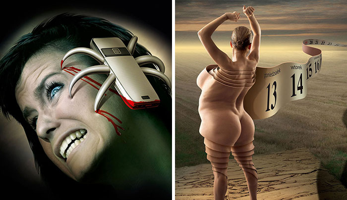 Controversial Illustrations By Polish Artist Reveal The Darker Side Of Modern Society