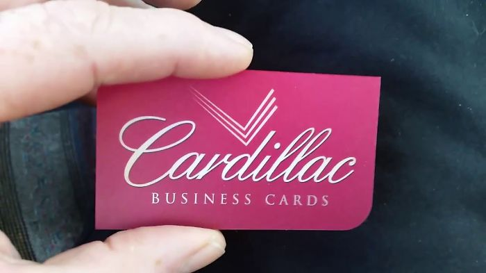 Cardillac's  Business Cards Are Flexable