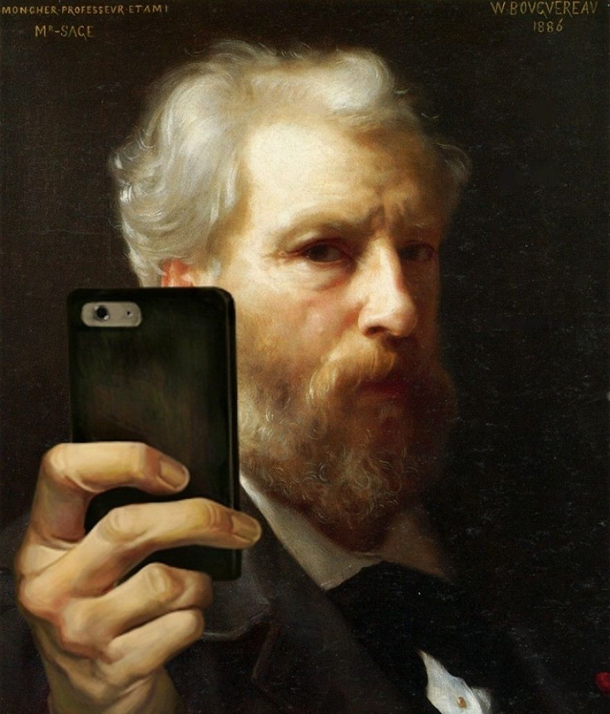 I Imagined People From The Past Taking Selfies