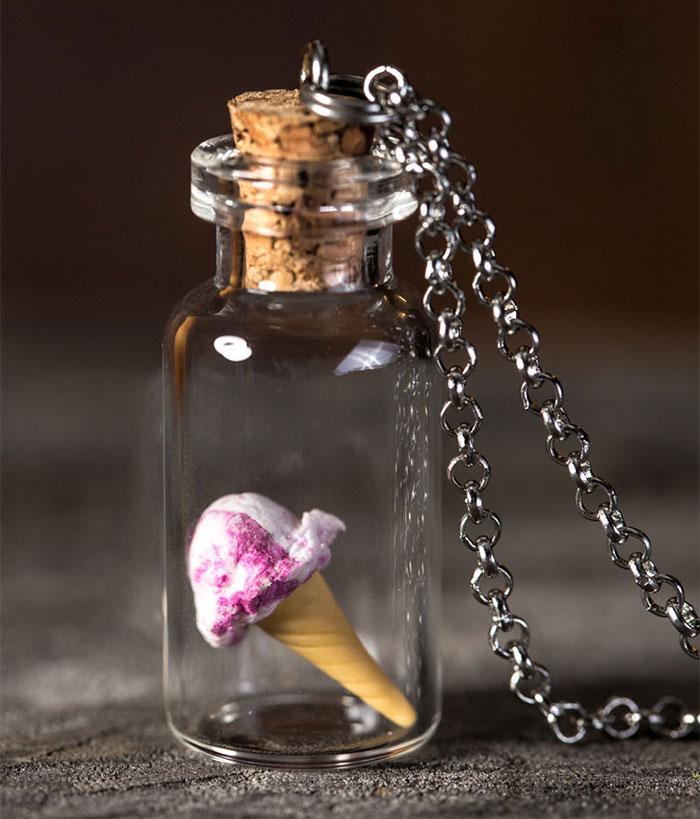I Create Miniature Food Necklaces