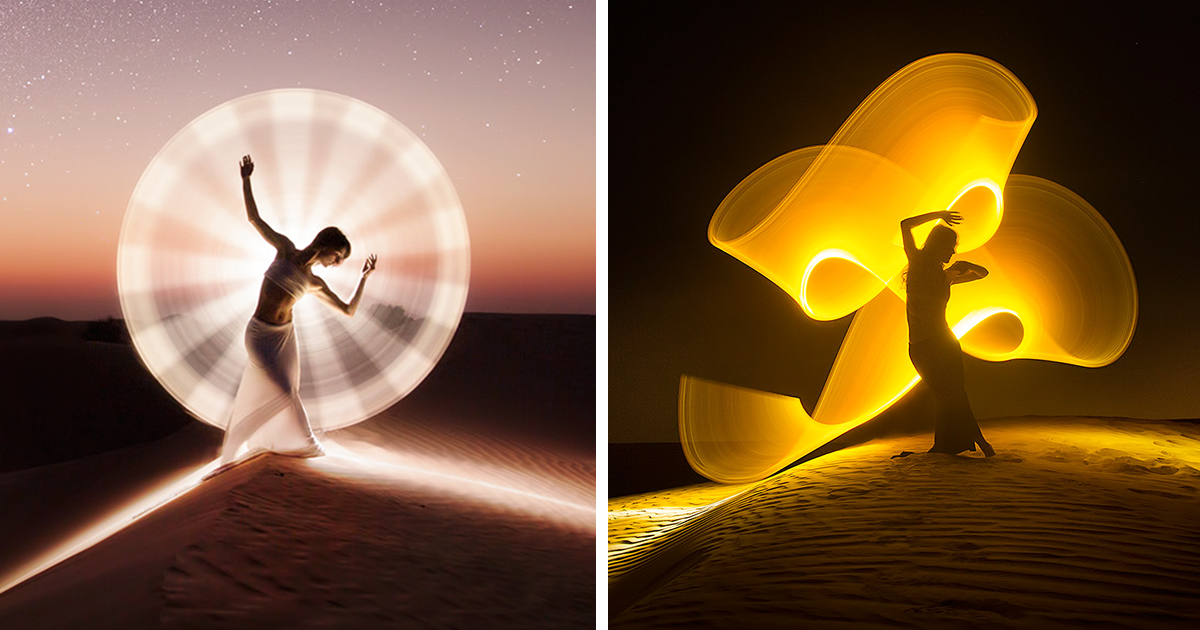 Light-Painting: We Travel Around The World To Create Fantasy Portraits
