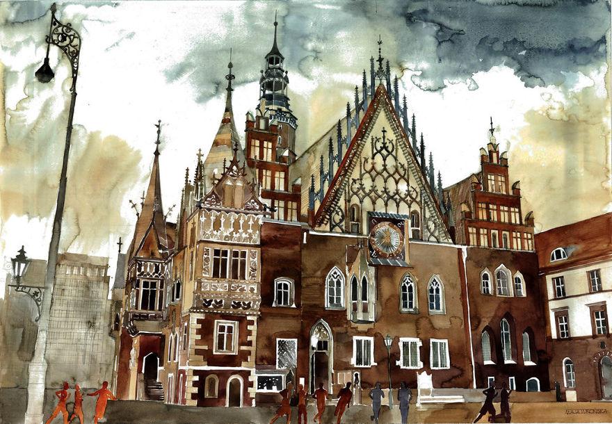 New Architectural Watercolors By Polish Architect Maja