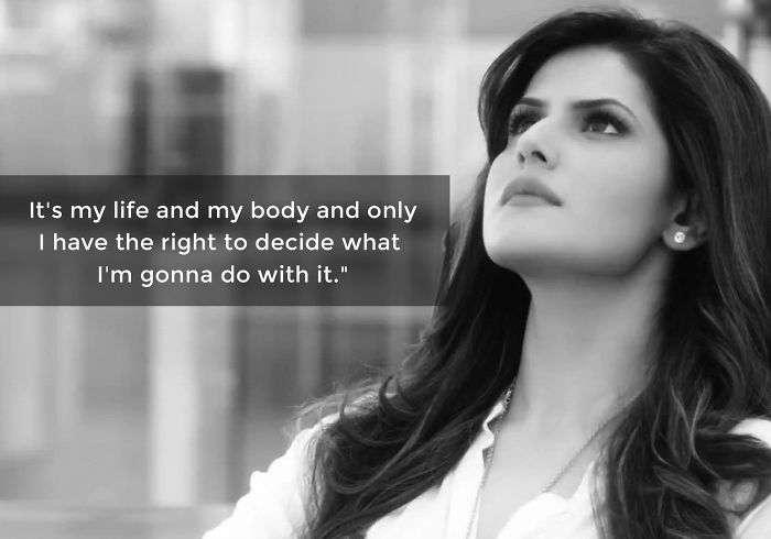 Zareen Khan Sends Out A Brave Message On Instagram Against Body Shaming
