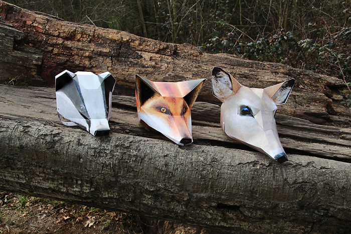 I Quit My Job As An Architect To Design These Eco-Friendly Folding Animal Masks