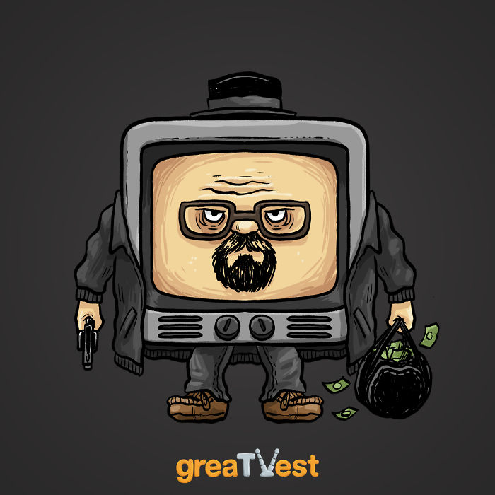I Drew Famous TV Characters In A Shape Of A TV