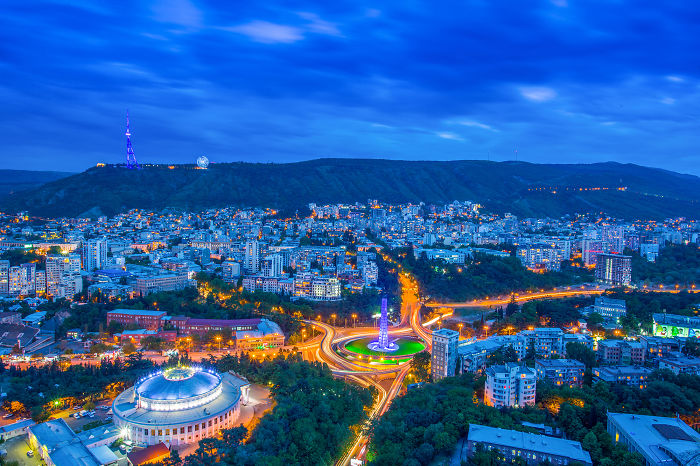 I Climbed To The 33rd Floor To Show You The Beauty Of A Night In Tbilisi