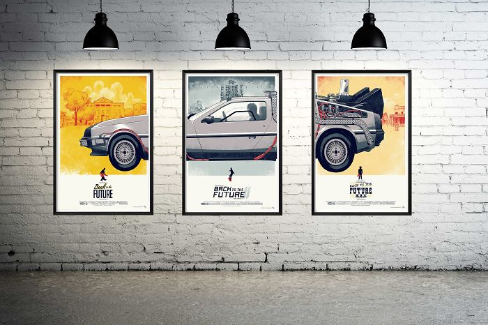 Back To The Future Complete Set (1-3) Graphic Home Decoration Poster Set