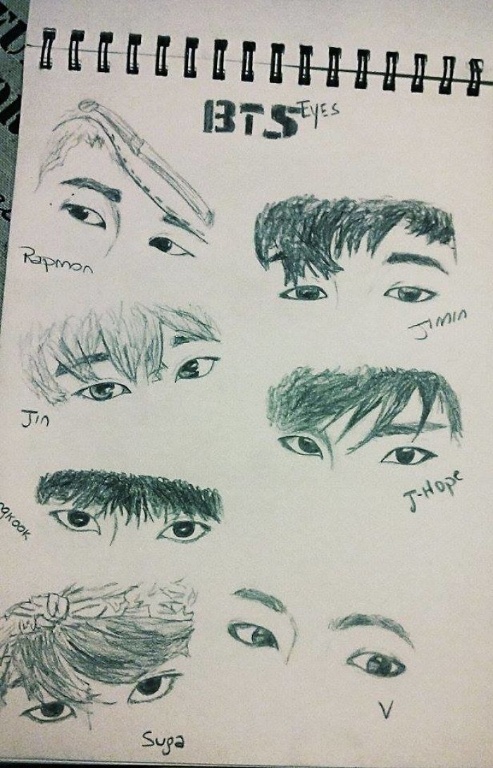 I Draw Slanted Eyes To Show They Are All Different