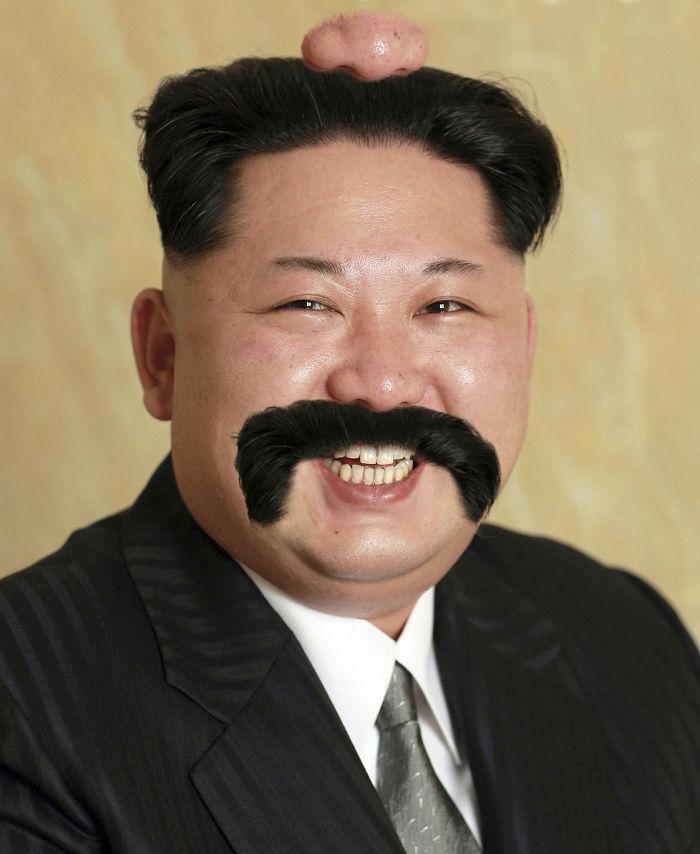 Kim Double Moustache-on