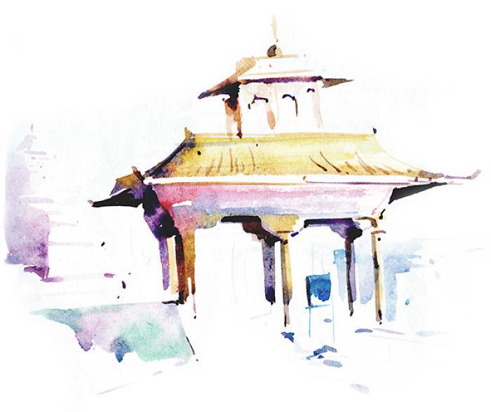 My Watercolor Illustrations Of Leh-ladakh Travel Experience