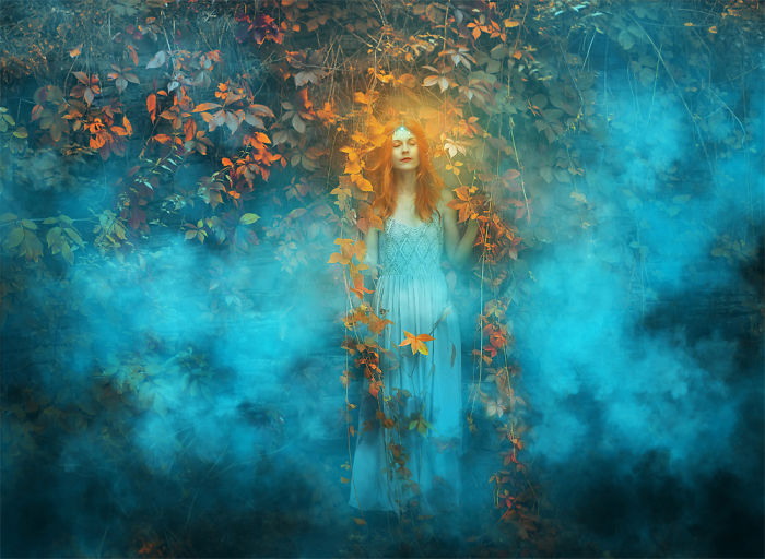 Photographer Combines Beauty Of Women With Enchanting Nature In Mysterious Portraits