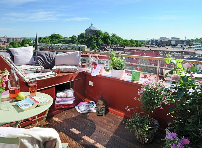 Sunny Rooftop Balcony