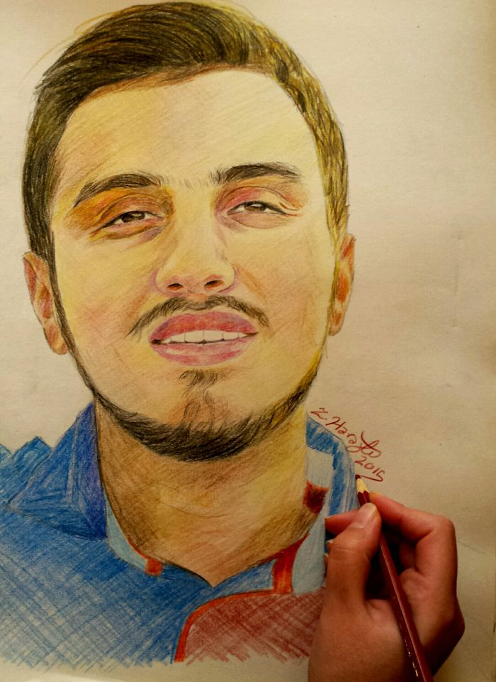 I Draw Realistic Portraits With Colored Pencils.