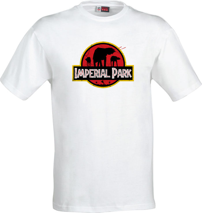Star Wars At At Imperial Park Jurassic Park Parody T-shirt
