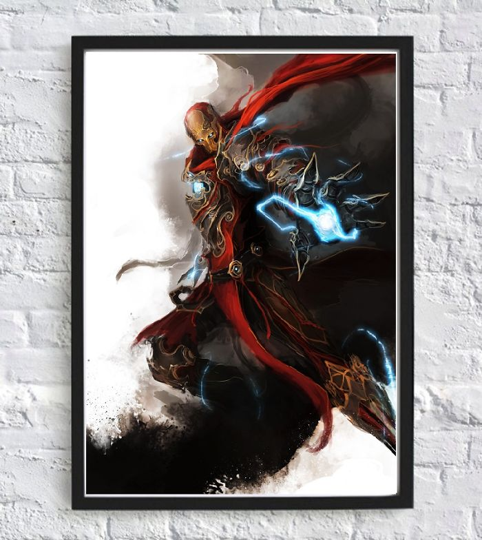 Iron Man Demon Style Art Home Poster