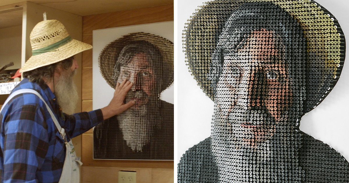 We Made A 3D Screw Portrait That A Blind Artist Could 'See' With His Hands