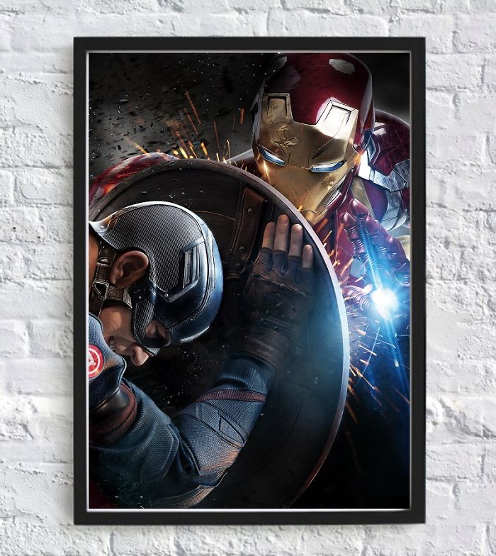 Captain America Vs Iron Man Civil War The Battle Of The Heroes Poster