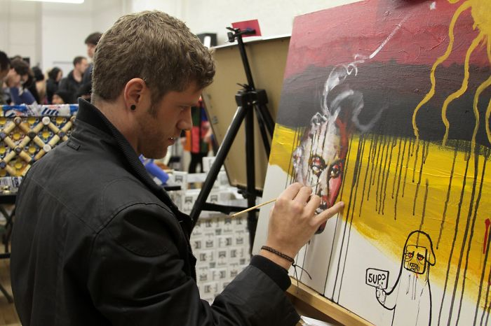 """My Interactive Art Show Happily Responded To Viewers Who Look At Art And Say """" I Can Do That """""""