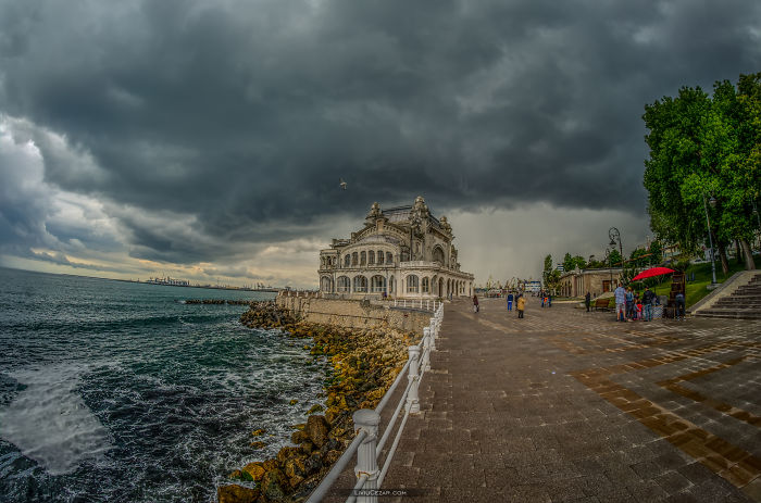 12 Dramatic Pictures Of Black Sea Coast And Old Casino Building In Romania