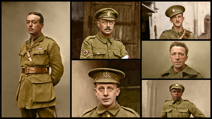 I Have Colourised The Lost Tommies, Unknown Soldiers From Ww1