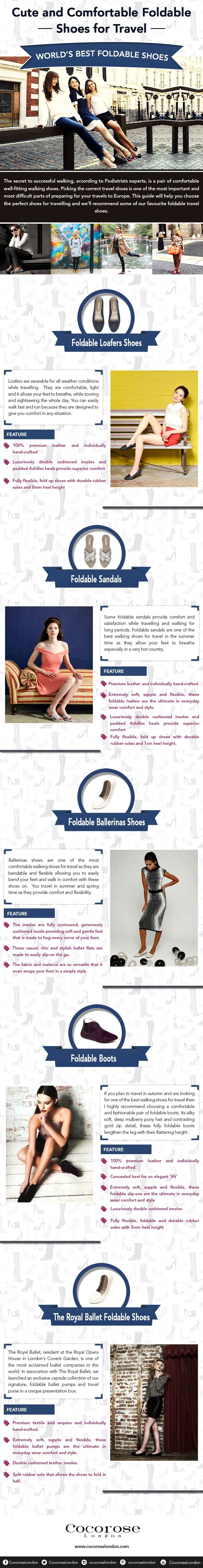 Cute And Comfortable Foldable Shoes For Travel [infographic]