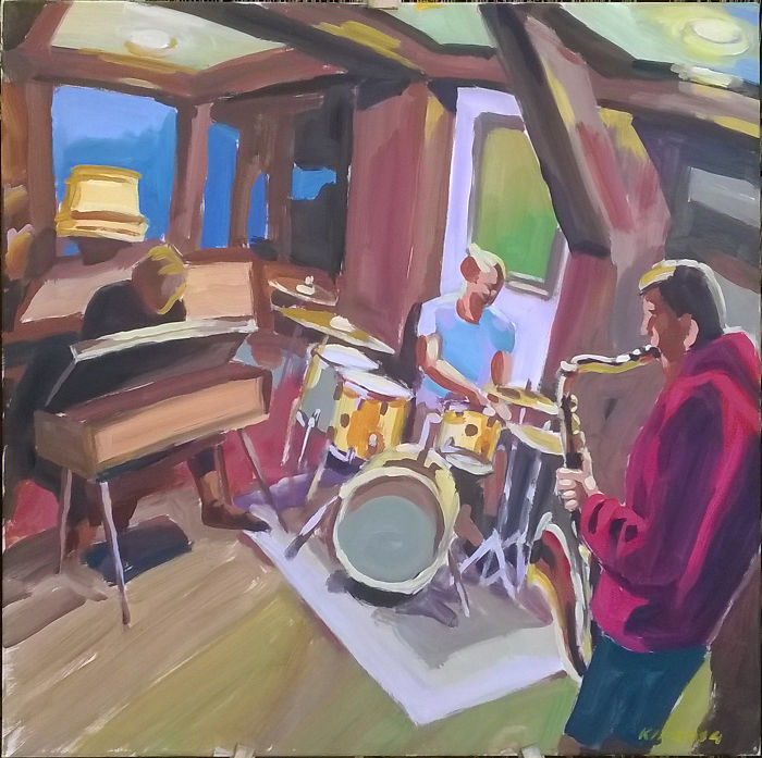 Jazzy Paintings. Can You Hear The Music?