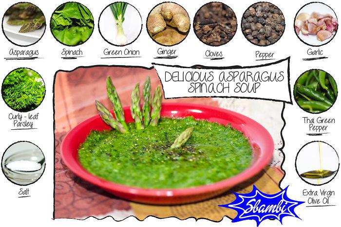 Delicious Asparagus Spinach Soup