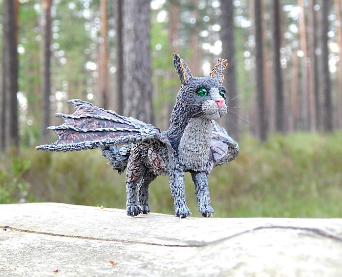 I Made This Cat Dragon Figure Out Of Clay