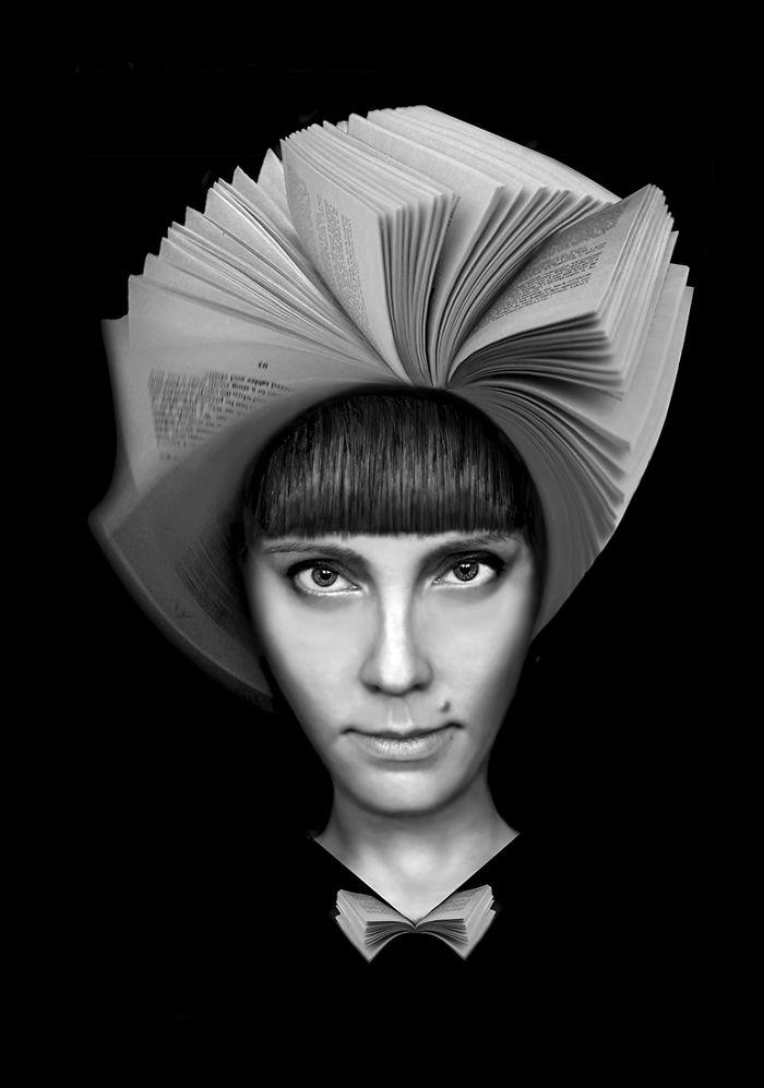 Monochromatic Surrealist Portraits