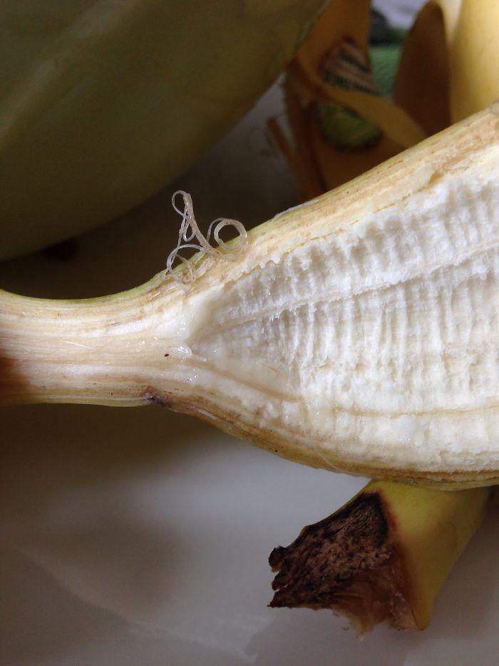 Peeled Banana Reveals Phoning Cyclist