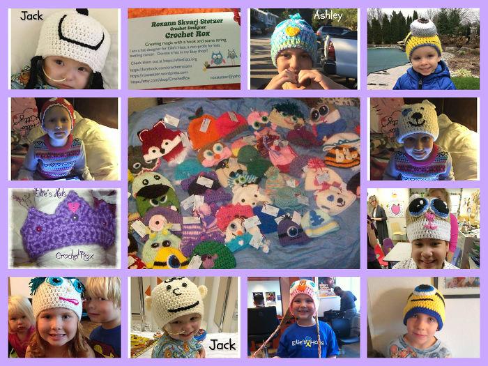I Crochet Hats For Brave Kids Battling Cancer Through Ellie's Hats.