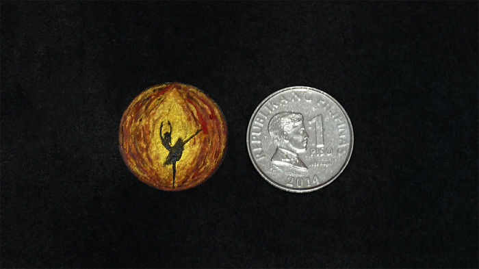 I Paint Coin-Sized Miniature Watercolour Paintings
