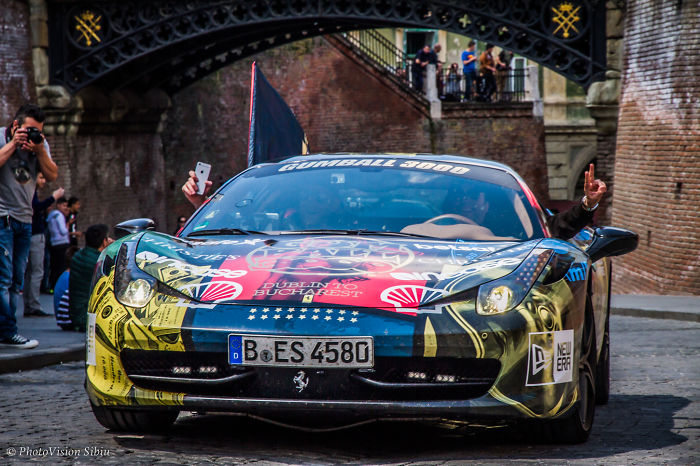 I Captured The Cars Of The 2016 Gumball 3000 Rally In Sibiu, Romania