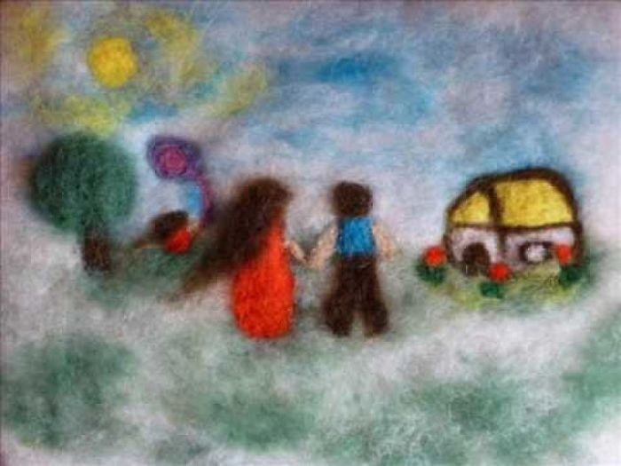 I Love Creating Living Felted Paintings With Good Stories Behind Them